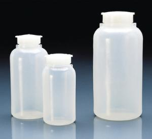 Bottles, wide neck, with screw cap
