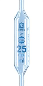 Pipette con bulbo, BLAUBRAND® 1 indicatore, classe AS, USP